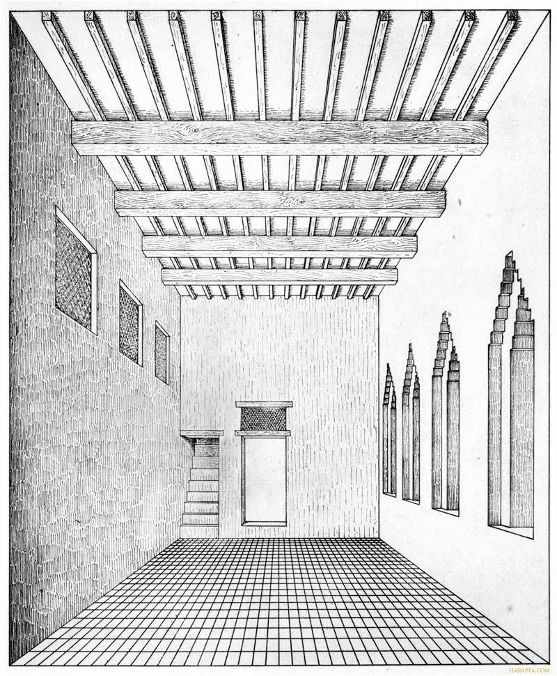Large Indus House And Interior Room Drawing Mohenjo Daro