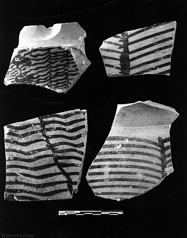Painted Pottery, Mohenjo-daro