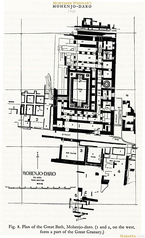 Mohenjo Daro Map Wheeler's Map of Mohenjo daro, 1968