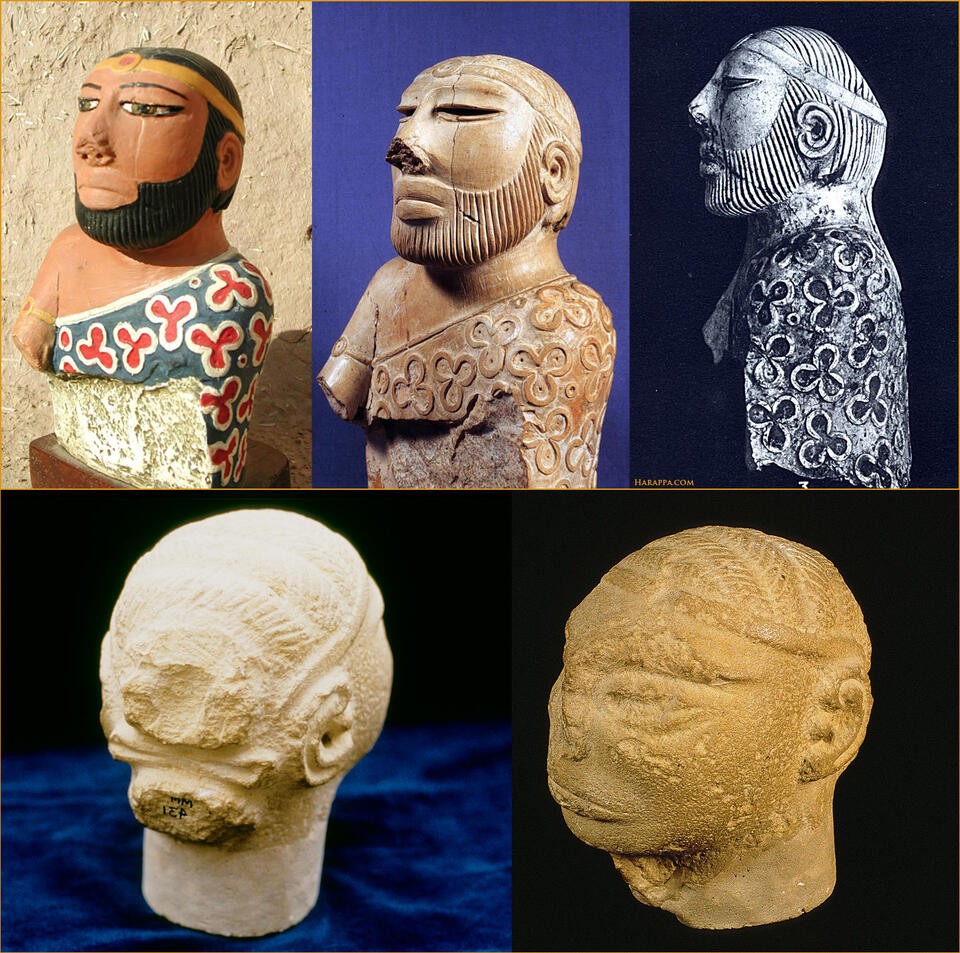 Male hair styles and fashion in Ancient Indus