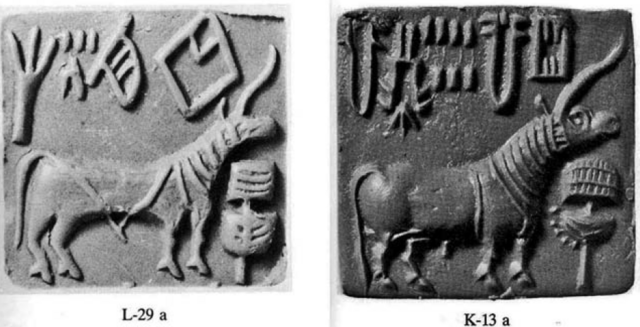 Comparison of hatch necked Unicorn Seals from Lothal and Kalibangin