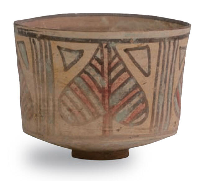 Nal-style pot with pipal leaf motif