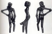 Three views of Mohenjo-daro artifact