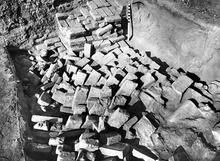 Mohenjo-daro Collapsed Brick Wall