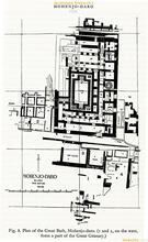 Wheeler's Map of  Mohenjo-daro, 1968