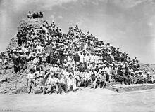 Mohenjo-daro 1950 Excavation Team with Sir Mortimer Wheeler
