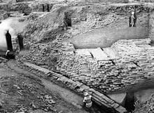 Granary Edge and Great Bath Drain, Mohenjo-daro