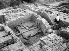 Northwest Corner, Granary Excavations, Mohenjo-daro