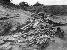Fired Brick on Mound, Mohenjo-daro
