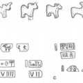 A series of Harappan figurines and tokens