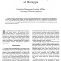 "Front page of article ""Urban Palaeoethnobotany at Harappa"""